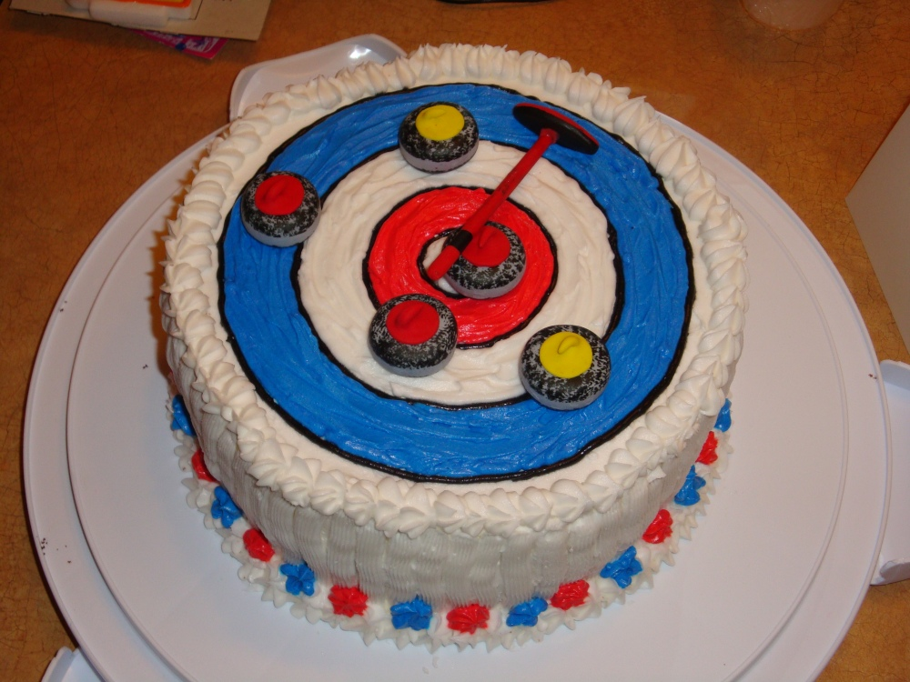 Curling Cake Photos